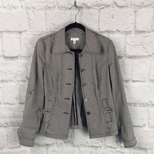 Charter Club Button Up Jacket With Pockets